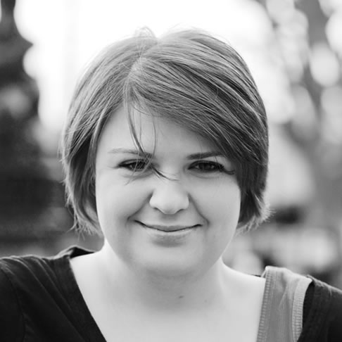 Monochrome picture of Katharine Bairwell